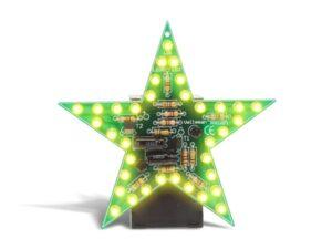 FLASHING YELLOW LED STAR