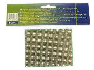 EUROCARD FULL LINE PATTERN - 100x80mm - FR4 (1pc/bl.)