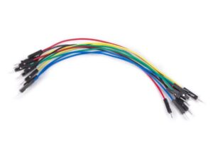"""SET OF AWG BREADBOARD JUMPER WIRES - ONE PIN MALE TO MALE - 5.9"""" (15 cm) - 10 pcs"""