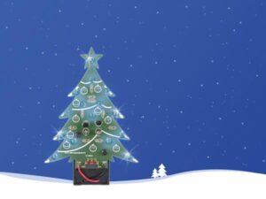 BLUE LED CHRISTMAS TREE