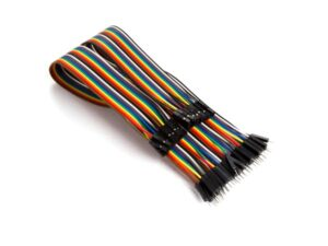 40 PINS 30 CM MALE TO FEMALE JUMPER WIRE (FLAT CABLE)