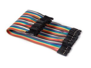 40 PINS 15 cm FEMALE TO FEMALE JUMPER WIRE (FLAT CABLE)
